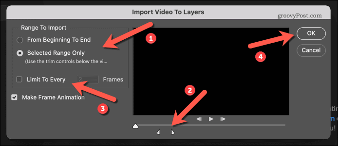 Importing a video in Photoshop