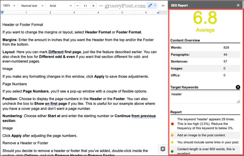 Added SEO Content Writing Assistant for Google Docs.