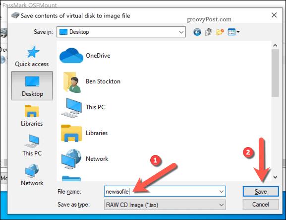 Saving a mounted OSFMount IMG file to ISO