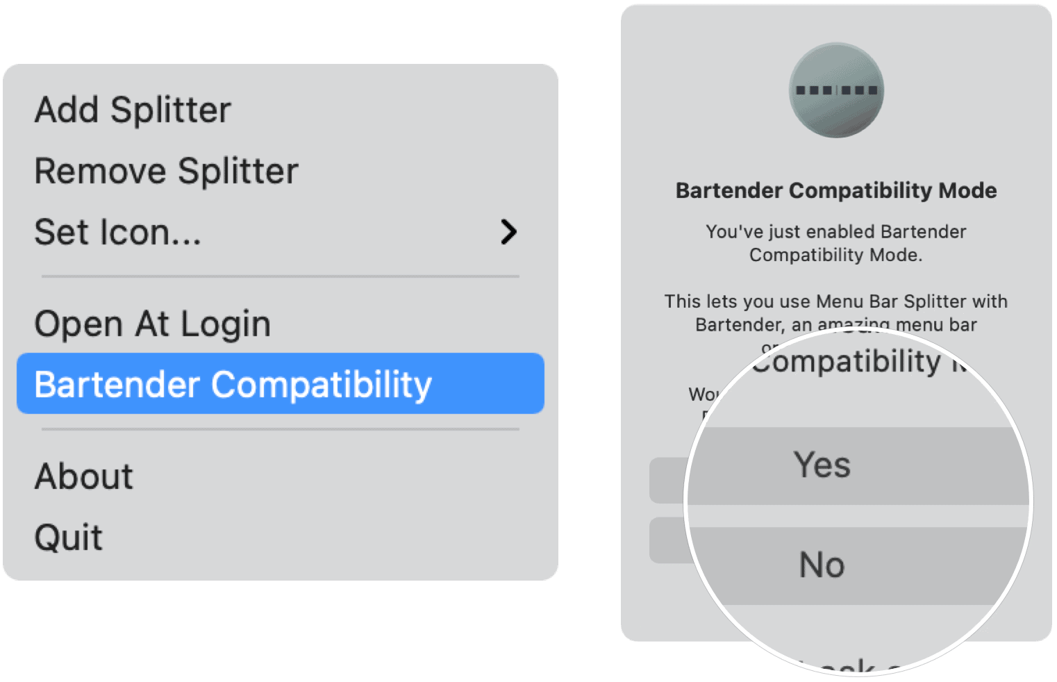 Bartender compatibility