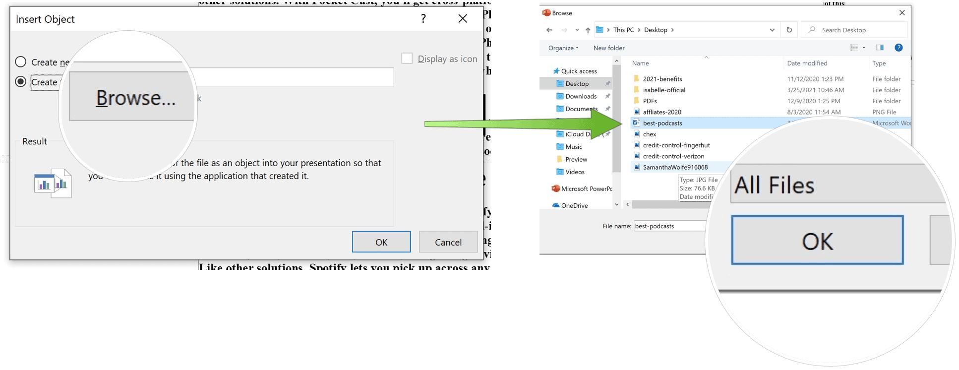Choose Import File