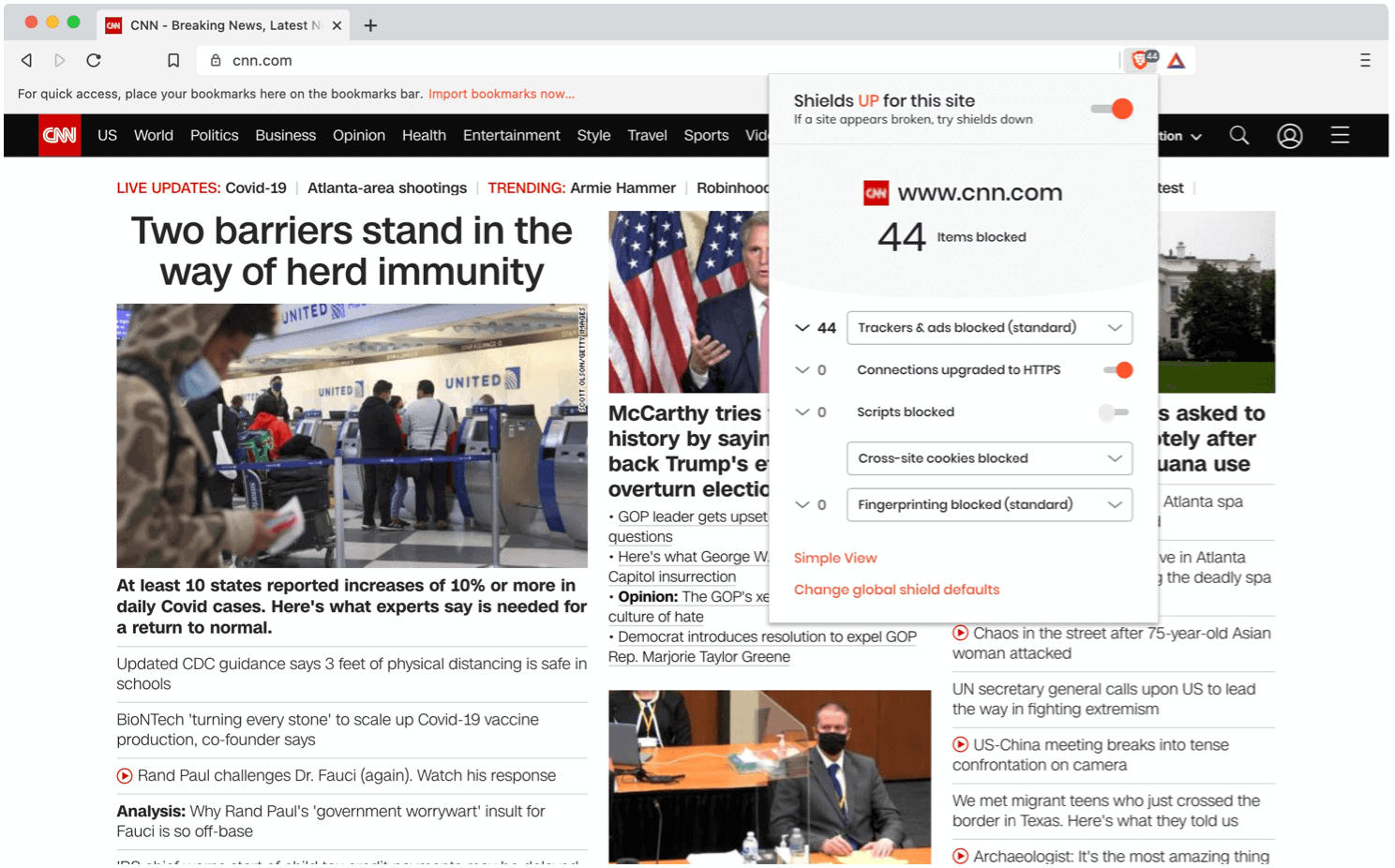 CNN sample website