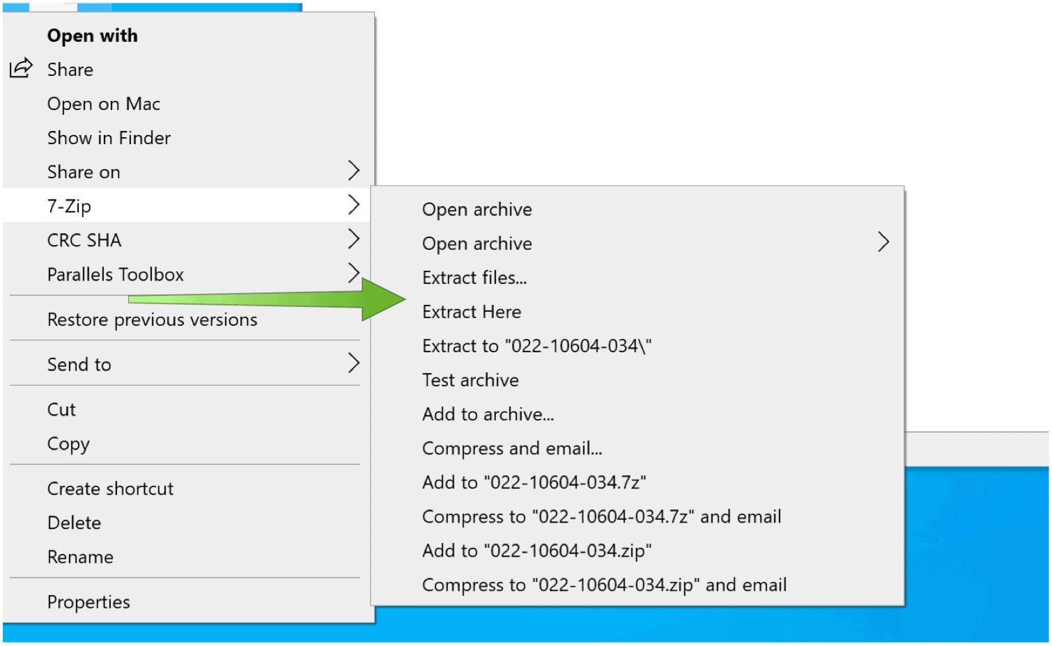 DMG Files on Windows 10 Extract DMG
