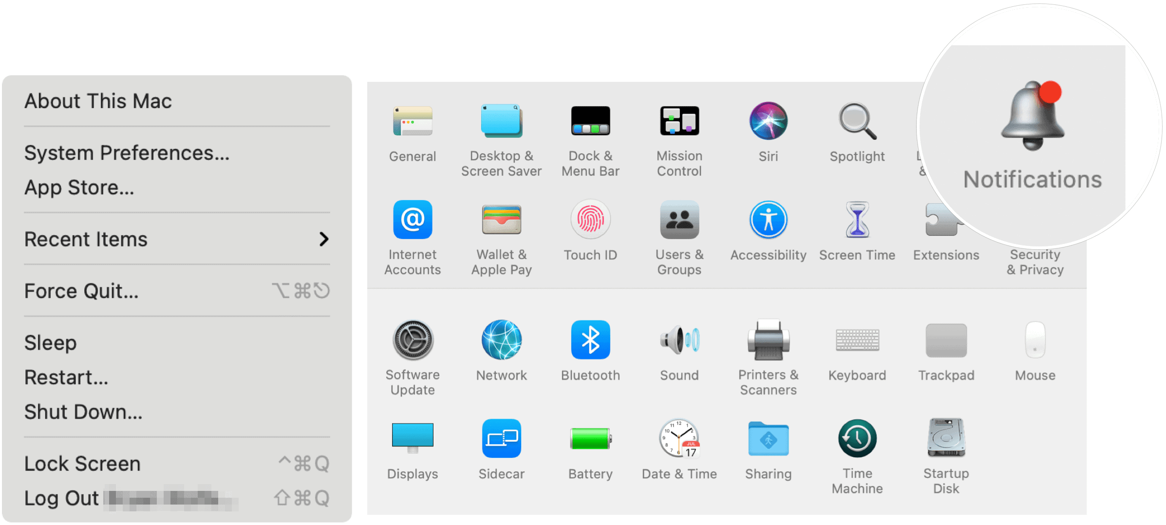 Notifications on Mac