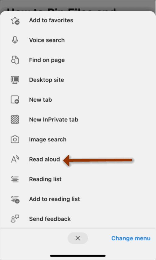 mobile edge read aloud