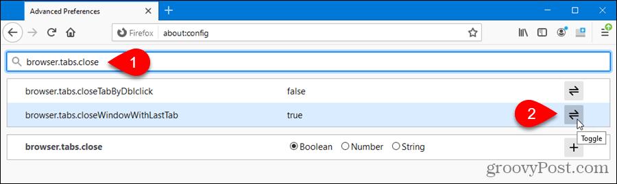 Toggle advanced setting in Firefox