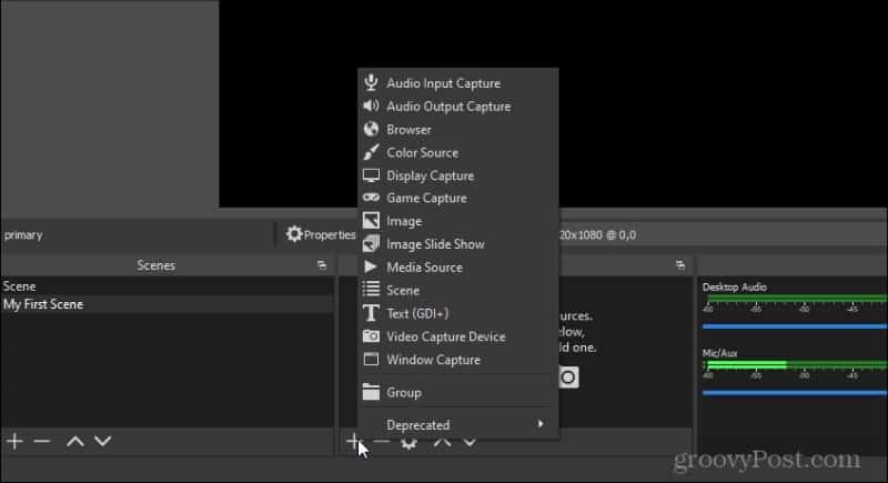 adding scene inputs