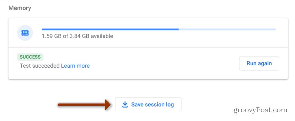 memory save session log
