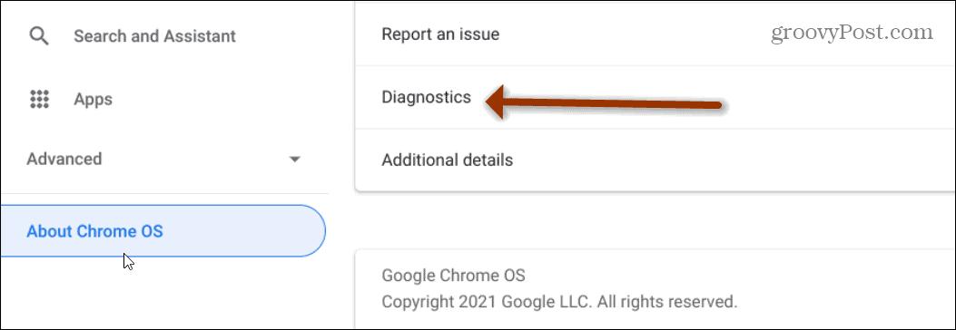 Chromebook Diagnostics