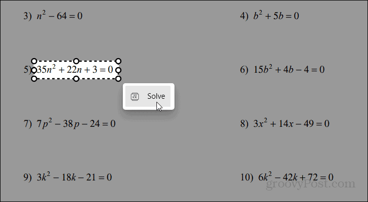drag and solve