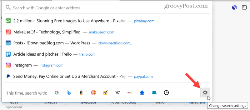 Change the Search Settings in Firefox