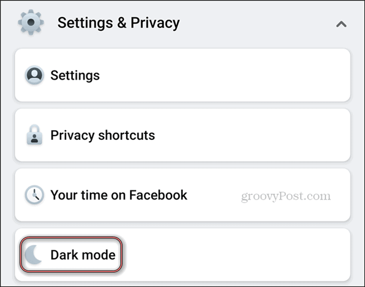 Facebook Dark Mode Android Settings Privacy Dark Mode