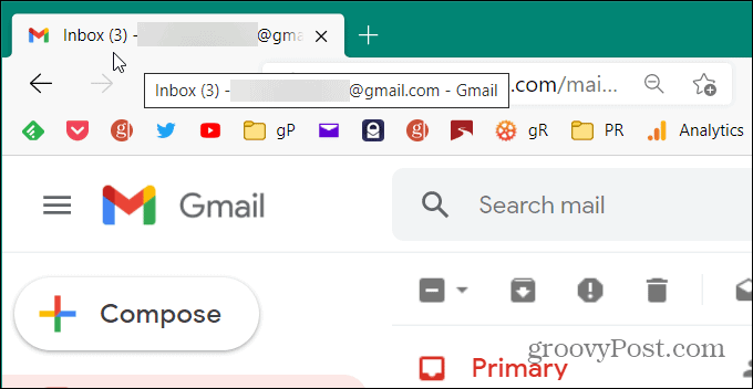 Gmail inbox message counter