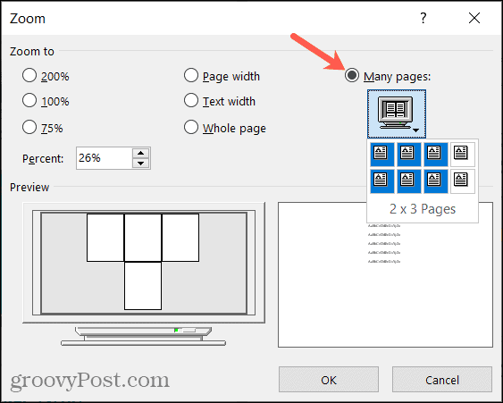 Set the Number of Multiple Pages