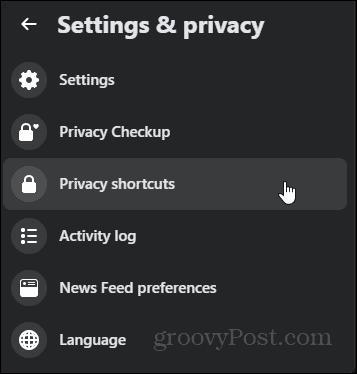 Off-Facebook activity privacy shortcuts