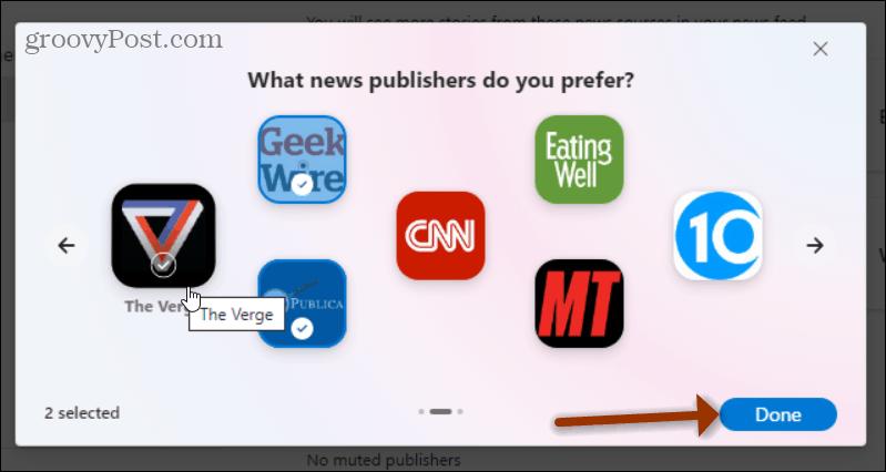 Publishers You Prefer