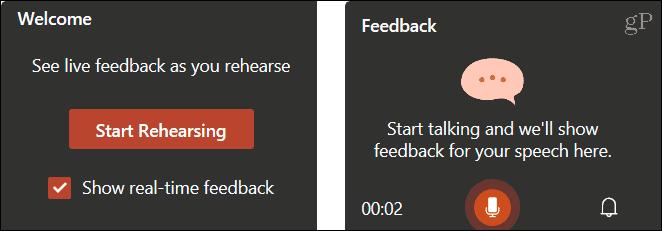 Start rehearsing your presentation