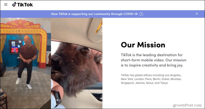 TikTok Mission