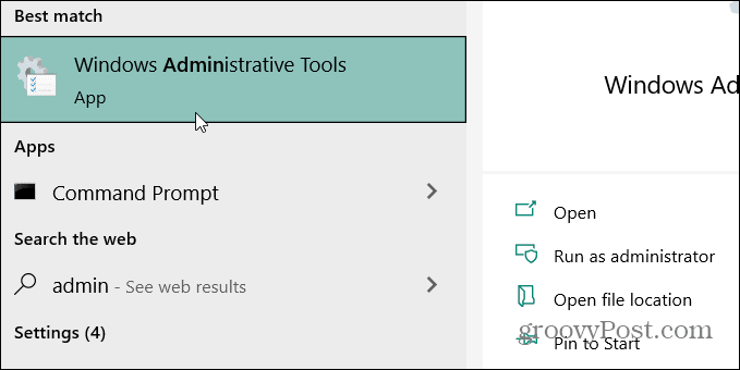 admin tools search