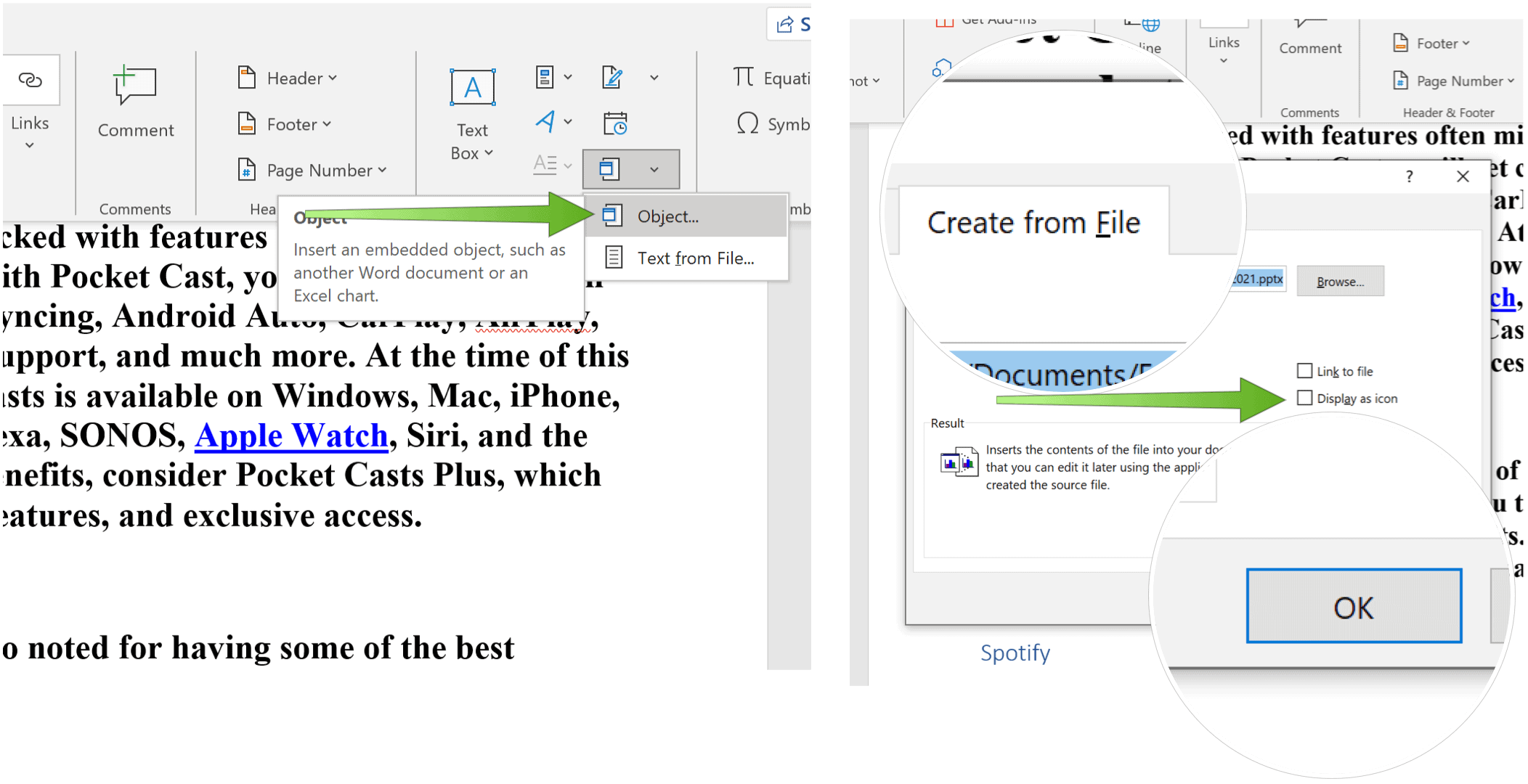 Embed a PowerPoint Slide Powerpoint create from file