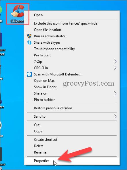 Get Properties of Windows Desktop shortcut