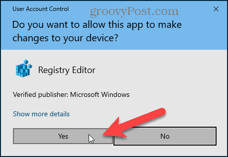 Windows User Account Control dialog