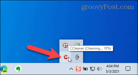 CCleaner automatically running and cleaning