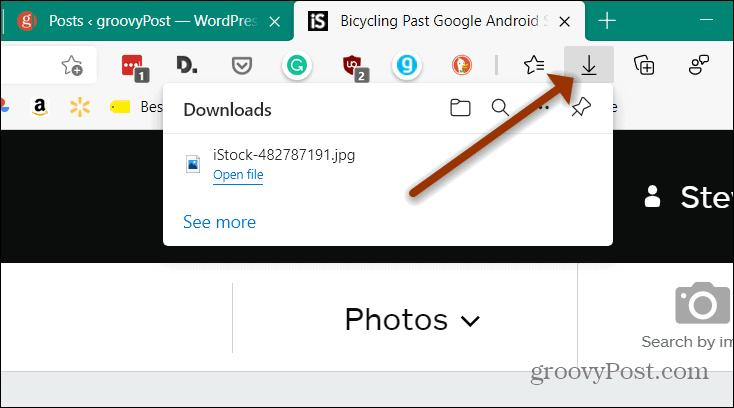 Edge Download Button