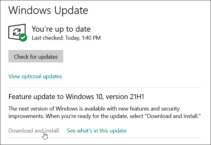 Windows Update Download and Install