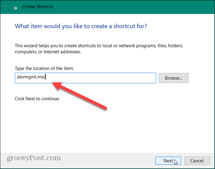 device manager shortcut