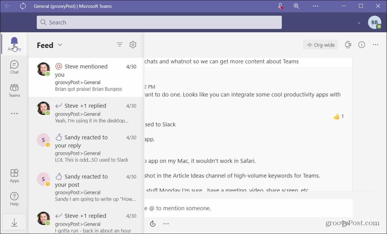 Microsoft Teams Web App