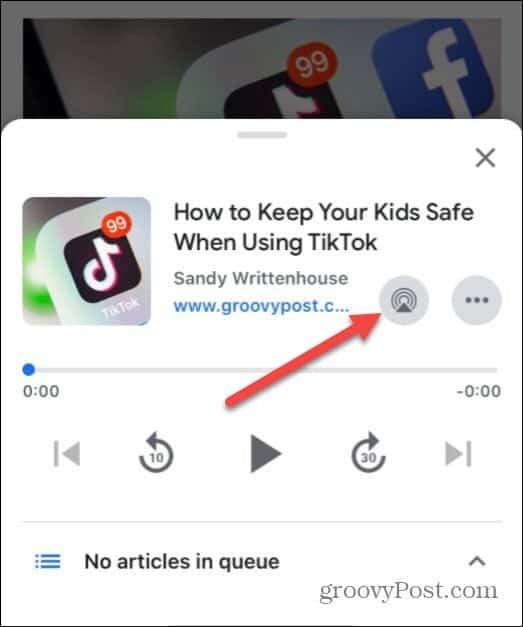 Play Article Google App iPhone