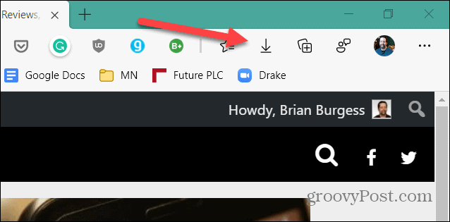 Showing Downloads Button