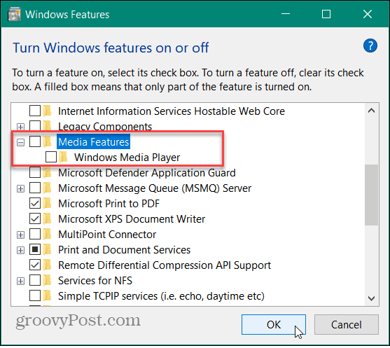 disable Media Features