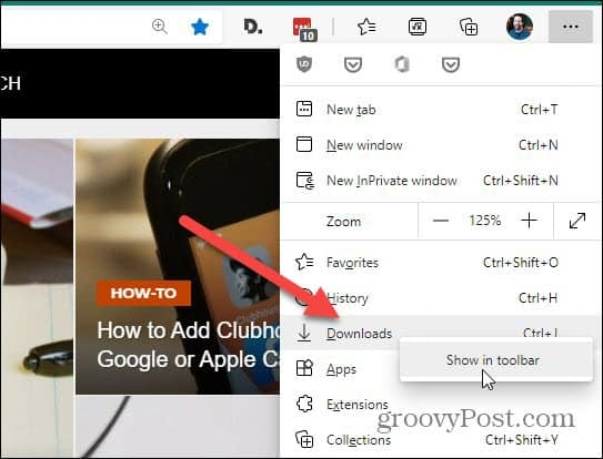 keyboard shortcut menu