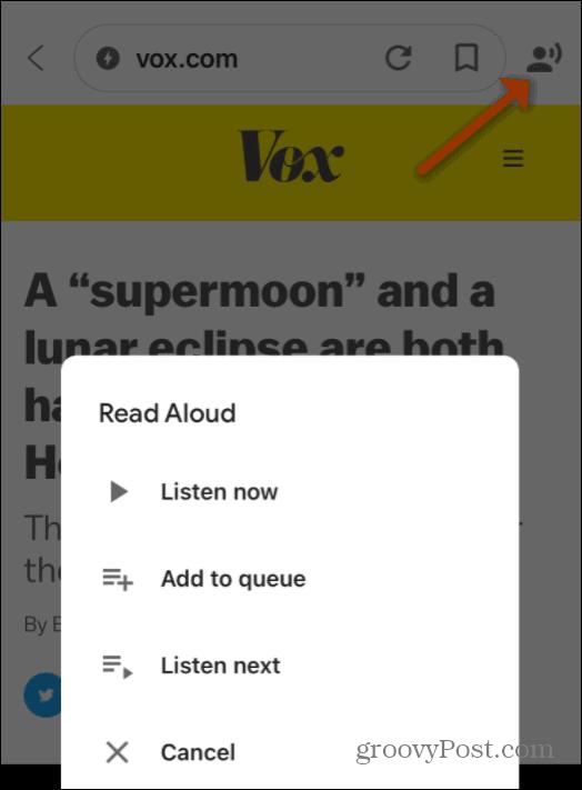 Read Aloud Options