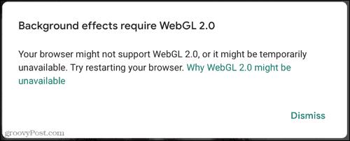 Browser Error on Google Meet