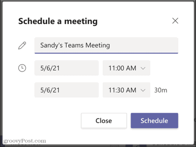 Set up a Meeting in Microsoft Teams for Later