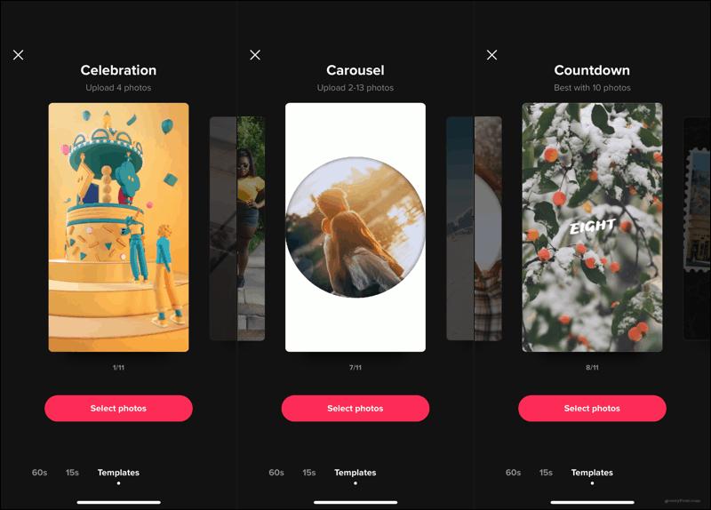 TikTok templates