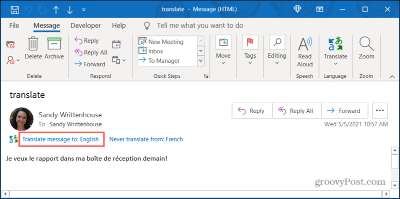 Translate a Message