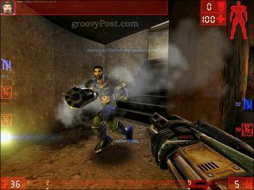 A screenshot of the original Unreal Tournament game