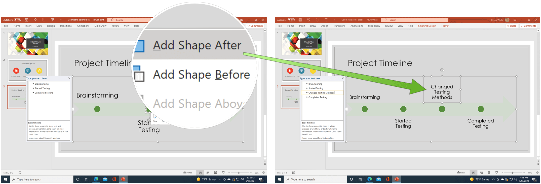 PowerPoint add timeline