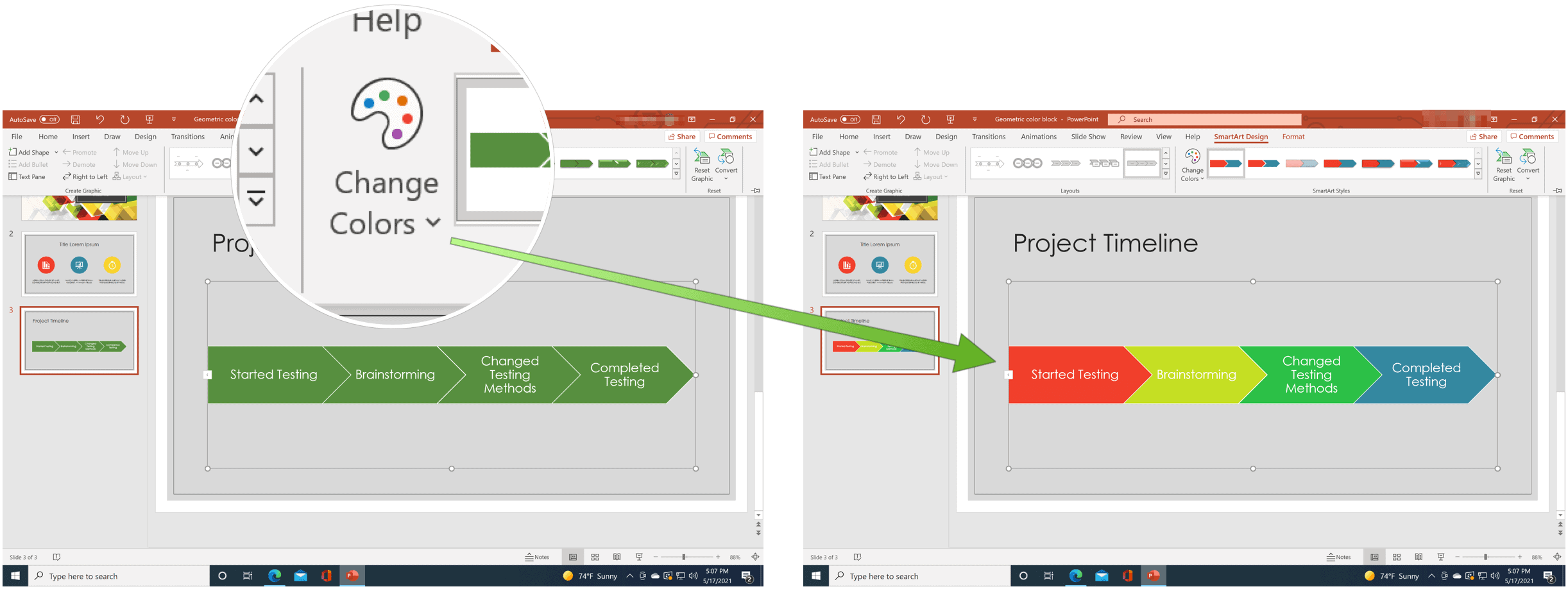PowerPoint change color