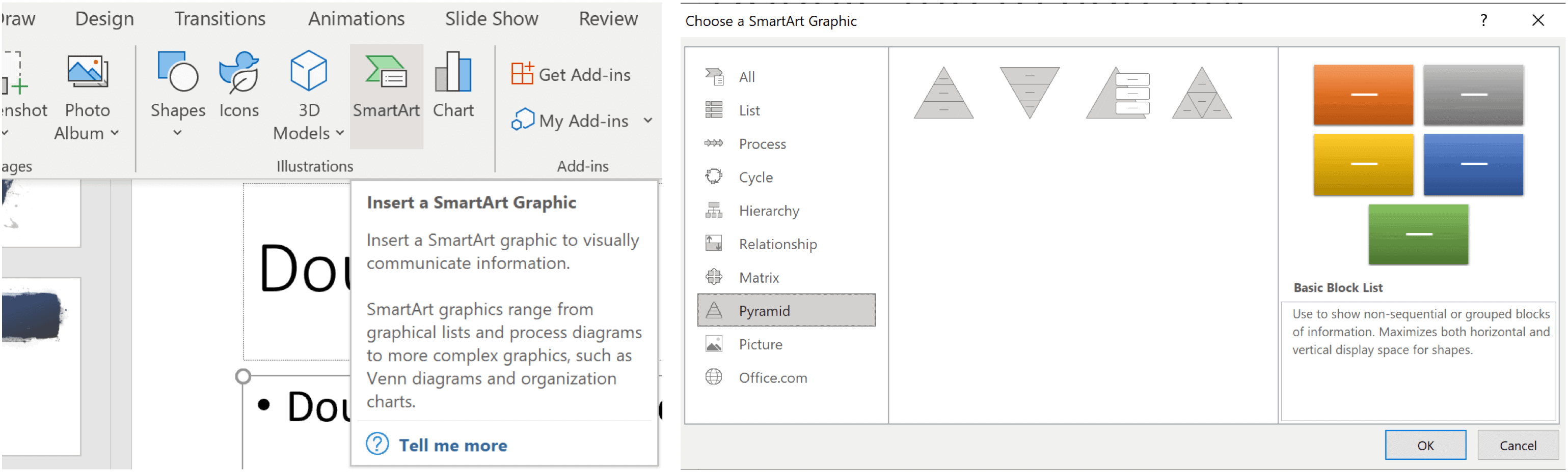 choose interactive pyramid