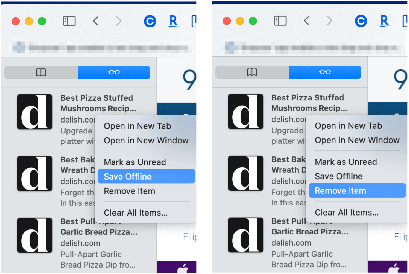 Save Articles Remove webpage from Reading List