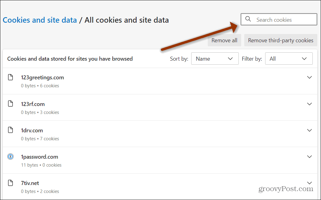 search cookies box