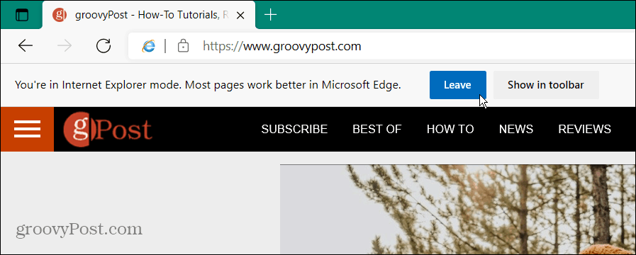IE 11 Mode in Edge