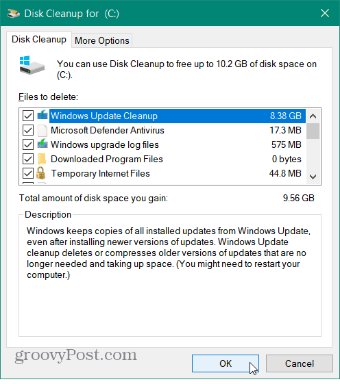 Clean Up Other Files in Disk Cleanup
