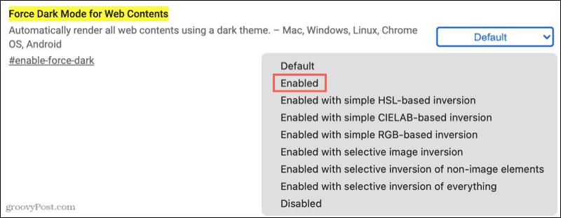 Force Dark Mode for Web in Google Chrome