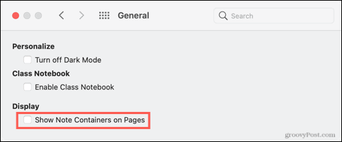Hide containers on Mac
